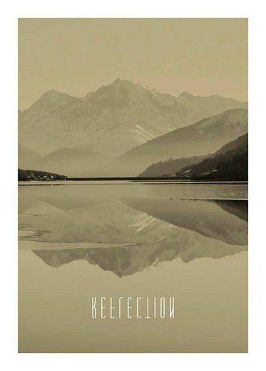 KOMAR XXL Poster »Word Lake Reflection Sand«