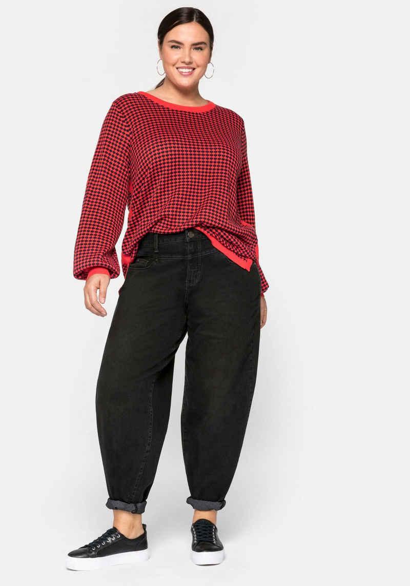 Sheego Stretch-Jeans mit High-Waist-Bund