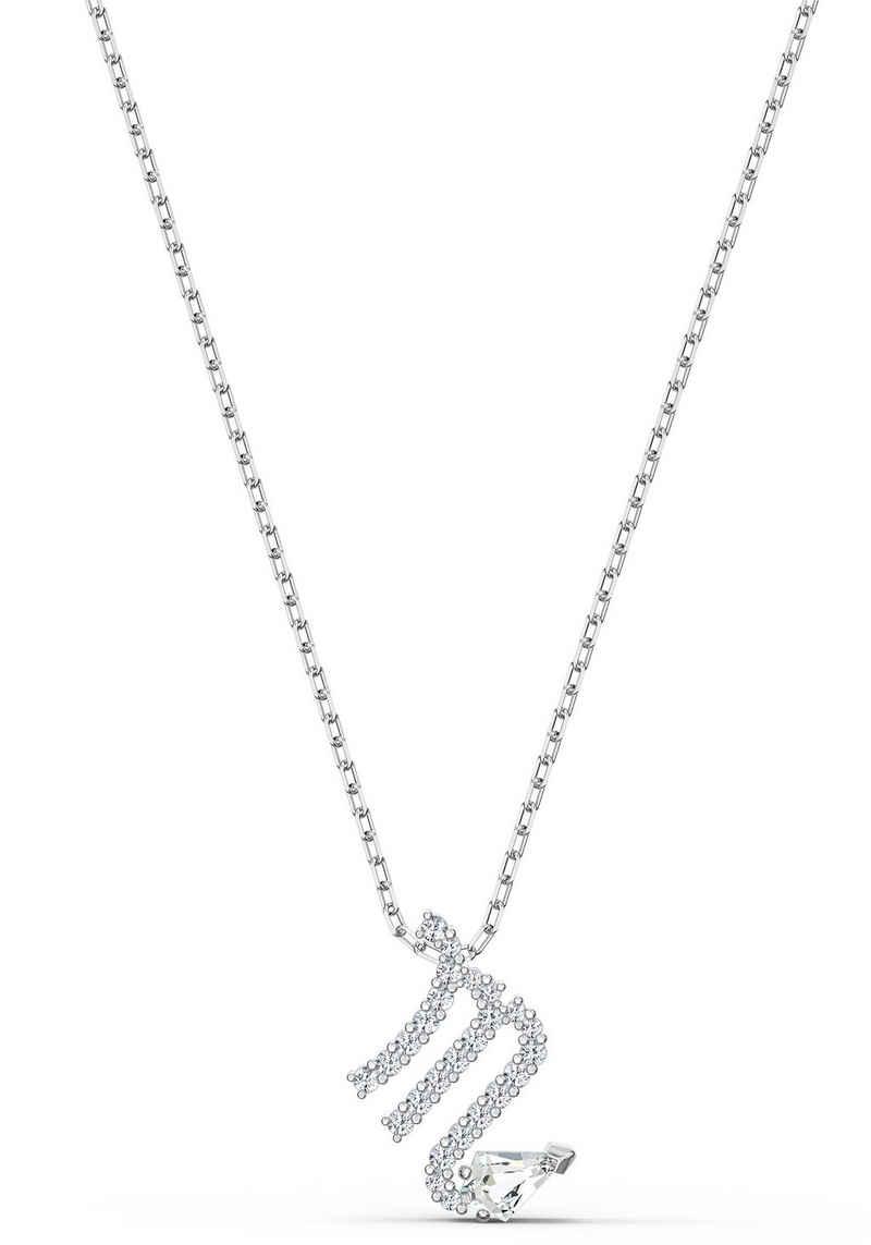Swarovski Kette mit Anhänger »Sternzeichen, Zodiac II Anhänger, weiss, Metallmix, 5561421, 5563894«, mit Swarovski® Kristallen
