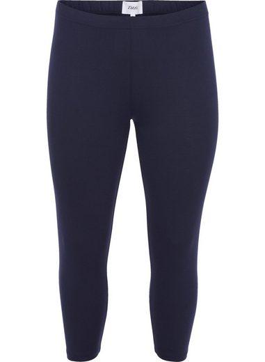 Zizzi Leggings Damen Leggings Große Größen Tights 3/4 Slim Fit Stretch Hose
