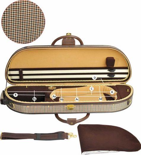 Steinbach Violinen-Koffer »Steinbach 4/4 Geigenkoffer elegante Form im Pepitadesign mit Zierborde«