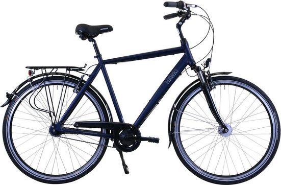 HAWK Bikes Cityrad »Gent Deluxe«, 7 Gang Shimano, Nabenschaltung