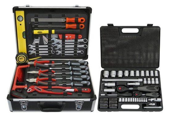 FAMEX Werkzeugkoffer »744 FX-48«, 159-tlg. Set, inkl. 76-tlg. Steckschlüsselsatz