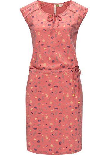 Ragwear Jerseykleid »Tetuan Organic« stylisches Sommerkleid mit Print u. Bindeband