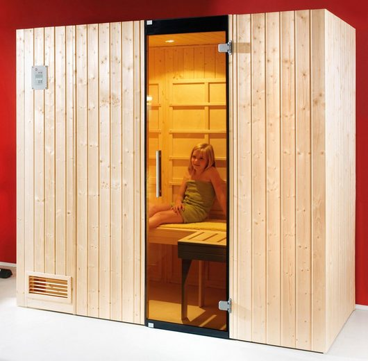 WEKA Set: Infrarotkabine »Alaro«, 212x121x199 cm, natur, inkl. Saunaofen