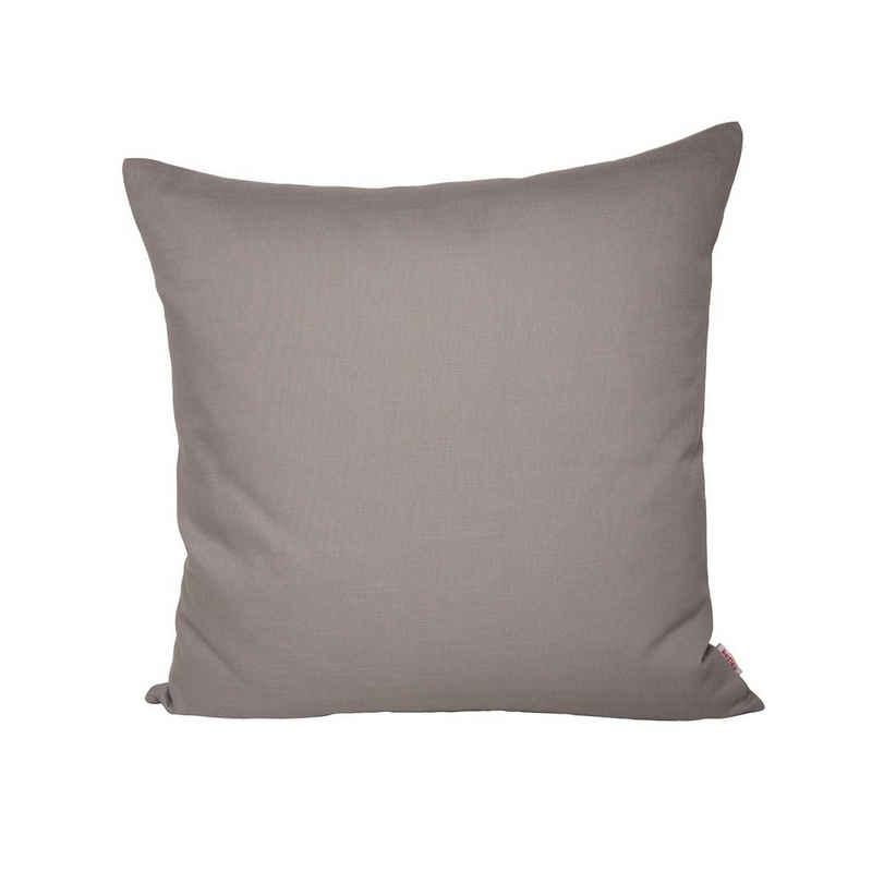 Kissenbezug »Farbenspiel«, beties, ca. 40x40 cm Kissenbezug in interessanter Größen- und Farbauswahl 100% Baumwolle für eine fröhlich Stimmung Uni Farbe (Platin)