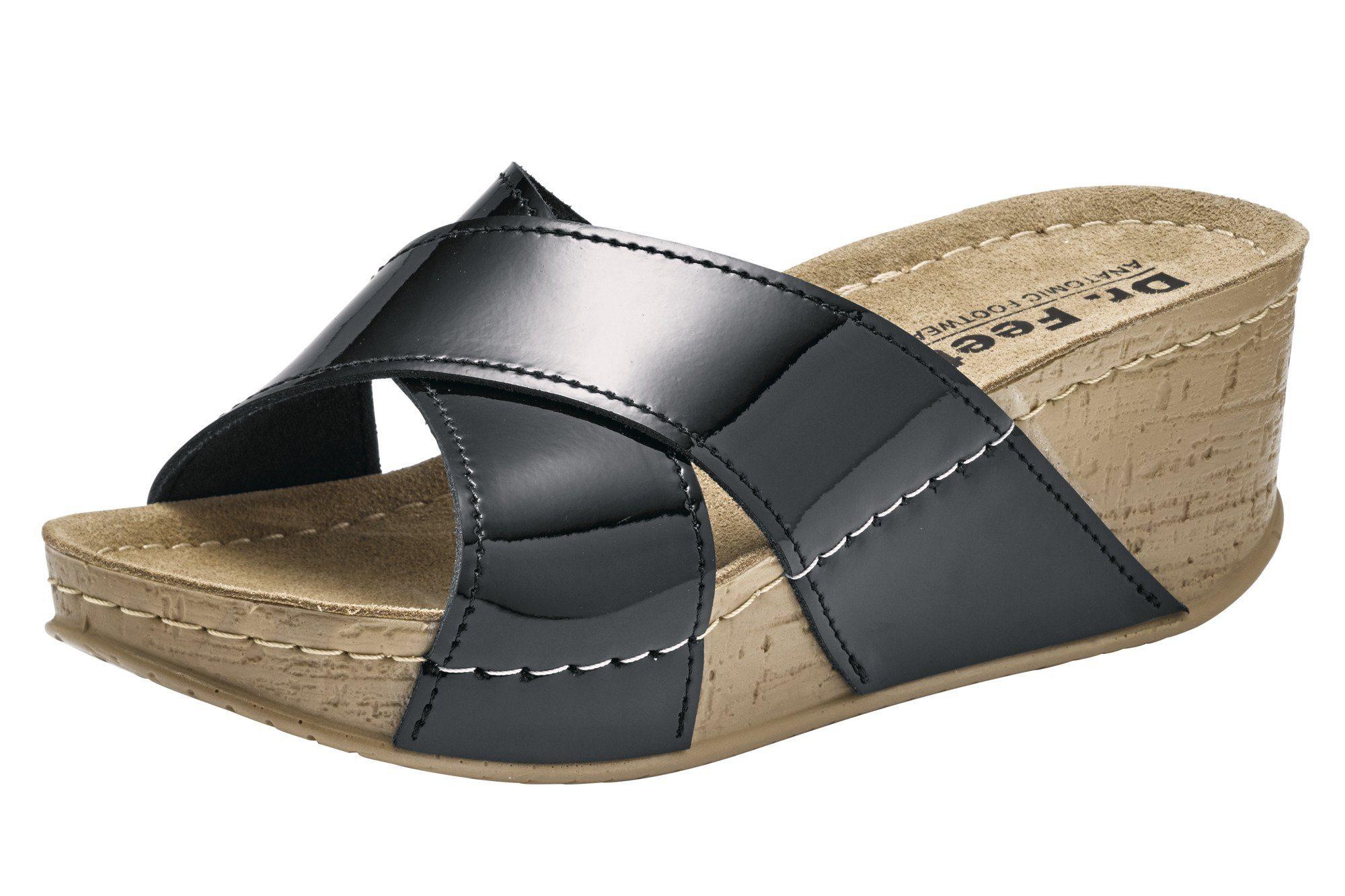 Heine Sandalette mit Plateau Sohle, Aus glänzendem Rind Lackleder online kaufen | OTTO