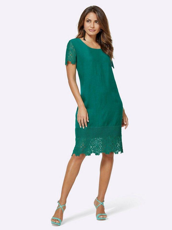 Festtagsmode - creation L Spitzenkleid »Lyocell Kleid« › grün  - Onlineshop OTTO