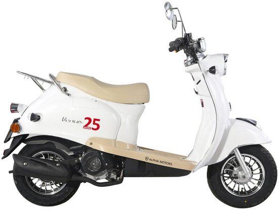 Alpha Motors Mofaroller »Venus«, 50 ccm, 25 km/h, Euro 4, inkl. Topcase, Limited Edition