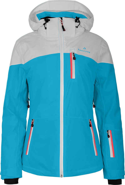 Bergson Skijacke »NUOLJA« Damen Skijacke, wattiert, 20000mm Wassersäule, Normalgrößen, cyan blau