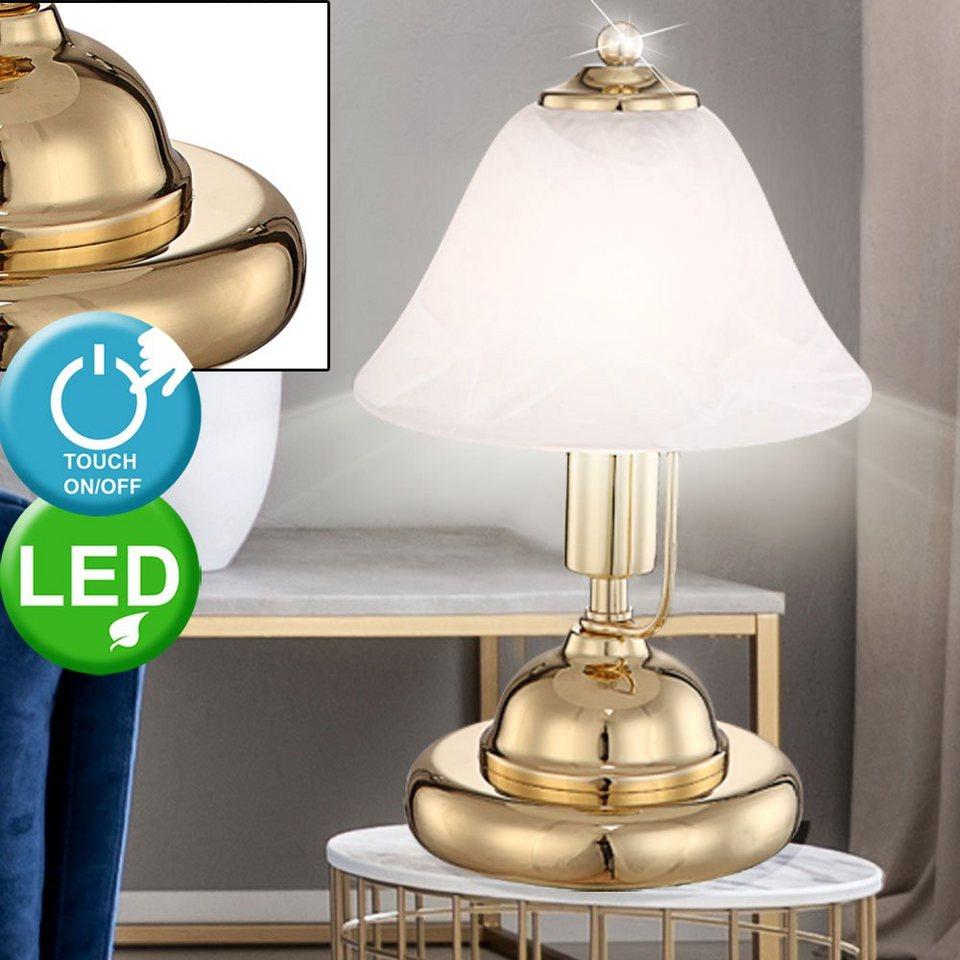 Eaxus LED Design Touch Tischlampe mit Farbwechsel Kalender /& Temperaturanzeige