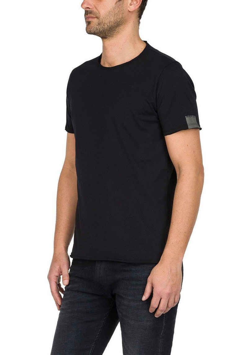 Replay T-Shirt offene Kanten