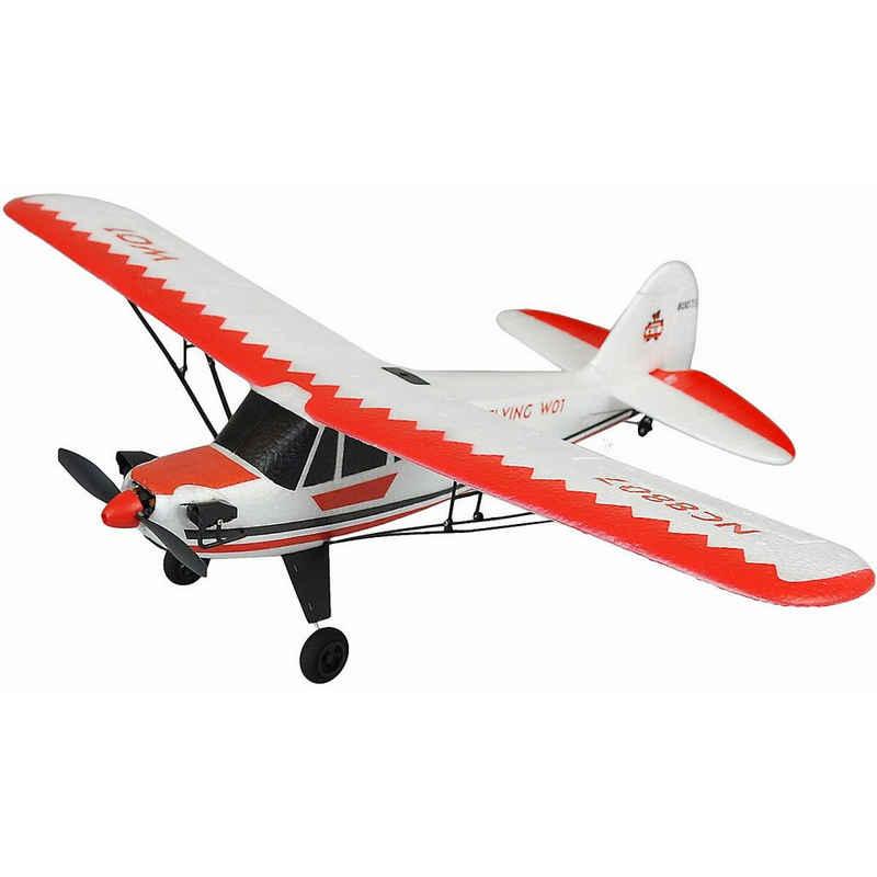 Amewi Spielzeug-Flugzeug »Piper J-3 CUP rot/weiß, 3 Kanal RTF, Gyro, Mode 2«