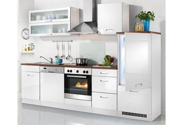 Held Möbel Küchenzeile Fulda, inkl. Elektrogeräte, Breite 280 cm