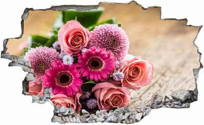 DesFoli Wandtattoo »Blumen Blumenstrauß Rosen C2258«