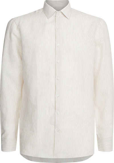 Calvin Klein Businesshemd »LINEN STRIPE SLIM SHIRT« in Leinenqualität