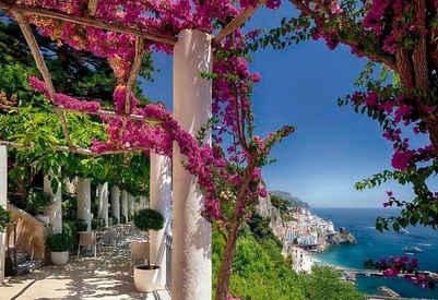 Komar Fototapete »Amalfi«, glatt, bedruckt, Stadt, Meer, (Set), ausgezeichnet lichtbeständig