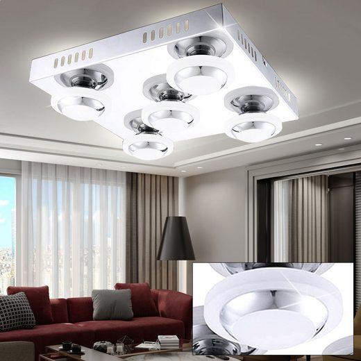 WOFI LED Deckenspot, LED 22,5 Watt Decken Leuchte Beleuchtung A+ Lampe Chrom Wofi 9589.05.01.0000