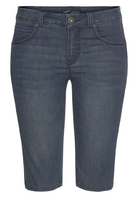 Hosen - Arizona Jeansbermudas »Shaping« Mid Waist › blau  - Onlineshop OTTO