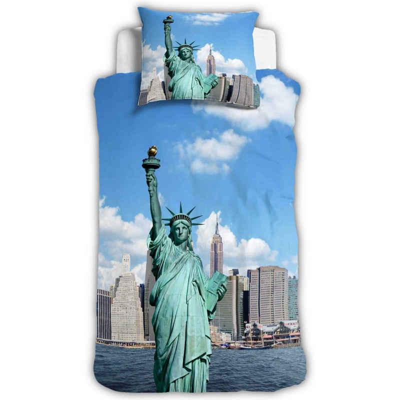 Bettwäsche »New York«, ESPiCO, Digitaldruck, Freiheitsstatue, USA