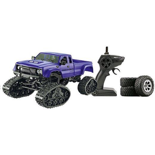 Amewi Spielzeug-Auto »Pickup Truck FPV mit Rädern & Ketten 4WD 1:16 blau«
