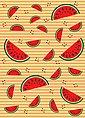 IDEALDECOR Fototapete »Melonen Orange«, BlueBack, 2 Bahnen, 183 x 254 cm, Bild 1
