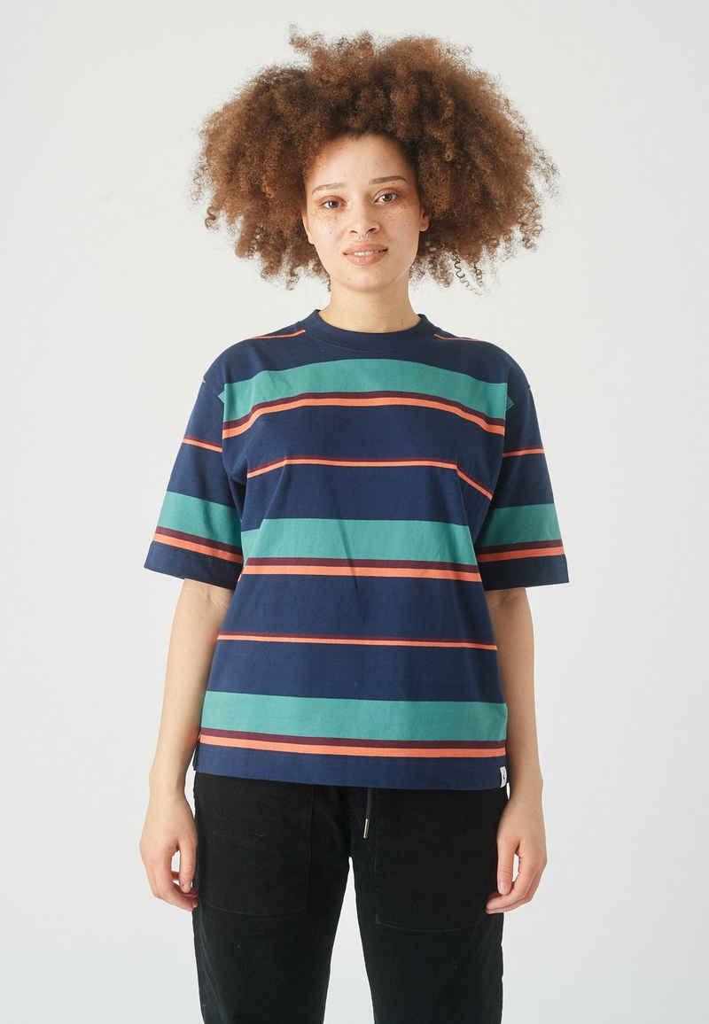 Cleptomanicx T-Shirt »Coasting 2« im mehrfarbigen Streifen-Design