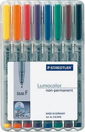 STAEDTLER Kreidemarker »Staedtler Universalstift Lumocolor, F, 8er-Set«