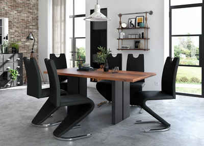 Homexperts Esszimmerstuhl »Zora 02« (Set, 2 Stück), Bezug in Kunstleder, Rückenlehne mit Griff zum einfachen Zurückziehen
