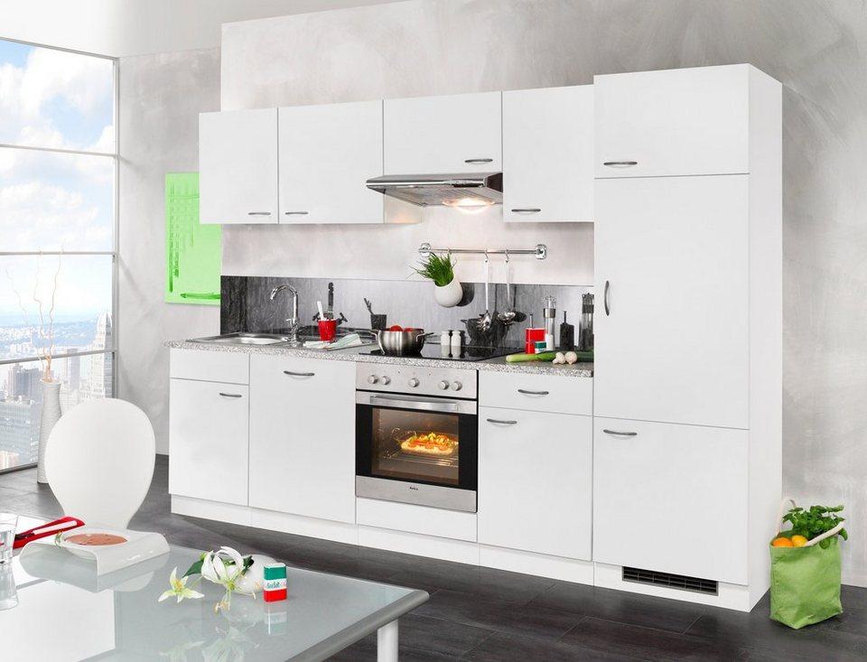 WIHO KÜCHEN Küchenzeile mit E-Geräten »Valencia, Set 2«, Breite 280 cm  online kaufen | OTTO