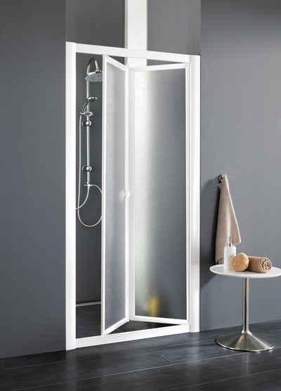 Forte Dusch-Falttür »Domino«, 83x185 cm, Acrylglas, mit Verstellbereich