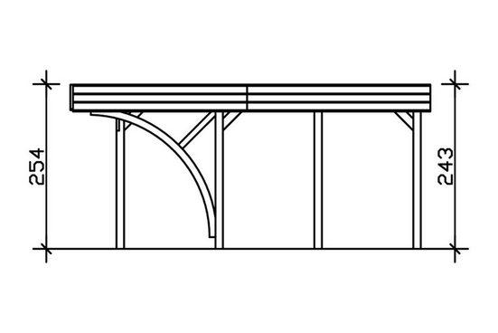 Skanholz Doppelcarport »Friesland Set 7«, 221 cm Einfahrtshöhe