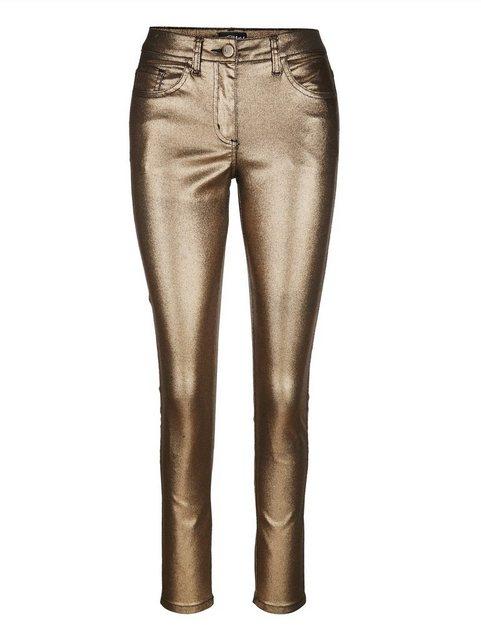 Hosen - Amy Vermont Hose in Metallic Optik › goldfarben  - Onlineshop OTTO