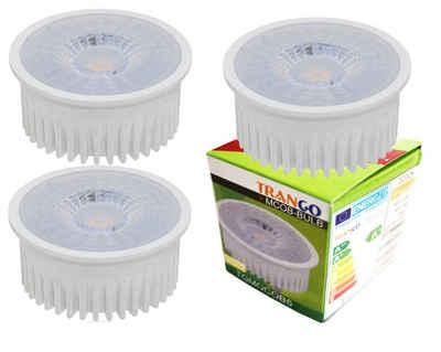 TRANGO LED-Leuchtmittel, LED Modul, 3 Stück, warmweiß, 3er Pack MOCOBSD-3 Ultra flach 5 Watt 3 Stufen dimmbarer LED Modul 3000K warmweiß zum Austauschen GU10 & MR16 Halogen Leuchtmittel, für Einbauleuchten, Deckenstrahler, Einbaustrahler