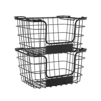 HomeGuru Aufbewahrungskorb »Aufbewahrungskorb aus Metall, Allzweckkorb für Küche oder Badezimmer«, stapelbar, 2-er Set