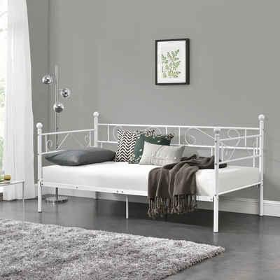 en.casa Metallbett, »Granada« Tagesbett 90x200cm in diversen Farben