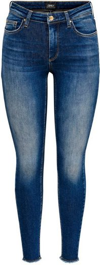 Only Skinny-fit-Jeans »BLUSH« mit ausgefranstem Saum