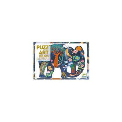 DJECO Puzzle »Kunstpuzzle Elefant, 150 Teile«, Puzzleteile