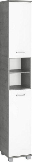 Badschränke - Schildmeyer Hochschrank »Mobes« Breite Höhe 30,3 193,7 cm, Türen beidseitig montierbar, Badschrank mit praktischen Regalfächern und Böden hinter den Türen  - Onlineshop OTTO
