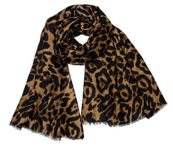 Caspar Modeschal »SC500 Damen XL Schal mit Leoparden Muster«