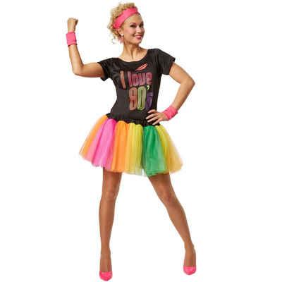 dressforfun Hippie-Kostüm »Frauenkostüm 80er Jahre Disco-Lady«