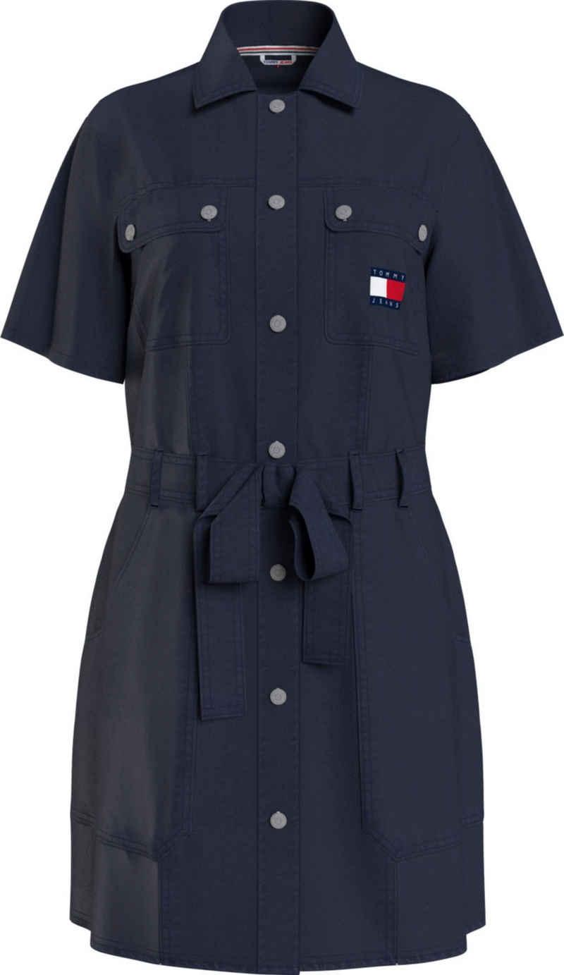 Tommy Jeans Hemdblusenkleid »TJW Belted Utility Dress« mit Druckerleiste & Tommy Jeans Logo-Badge