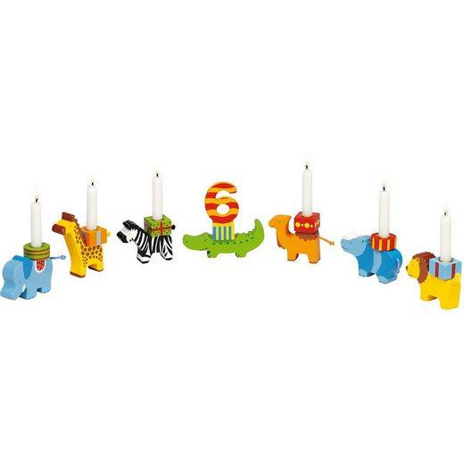 goki Kerzenständer »Geburtstagszug Tierparade«