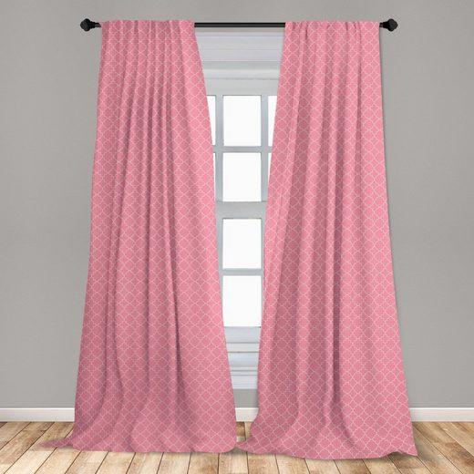 Gardine »Fensterbehandlungen 2 Panel Set für Wohnzimmer Schlafzimmer Dekor«, Abakuhaus, orientalisch Quatrefoil Motiv