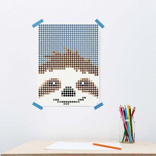 Dot On Malvorlage »dot on art kids - faultier, 30 x 40 cm«