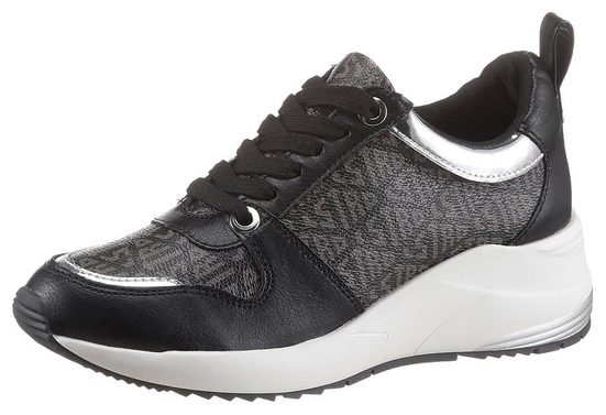 La Strada »Fashion Sneaker On Wedge« Wedgesneaker mit Allover-Logodruck