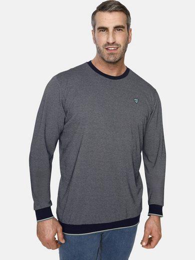 Charles Colby Sweatshirt »EARL KEARNEY« aus zweifarbigem Strick