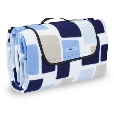 Picknickdecke »Picknickdecke Muster blau«, relaxdays