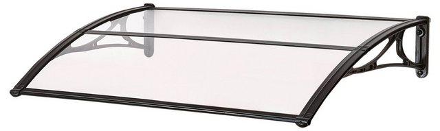 Vordach EMMA 1200 B/T/H: 120/80/21 cm schwarz