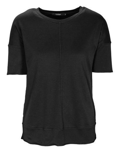 Clarina Rundhalsshirt »MICHELLE« mit Overlock-Nähten